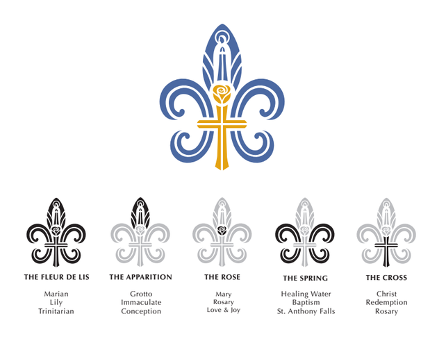 Parish Logo Explanation Our Lady Of Lourdes Catholic Church